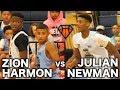 Zion Harmon VS Julian Newman!!  + Alonzo Gaffney Drops 41 at NEO YouthElite!! -