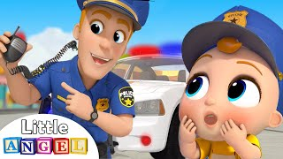 Policeman Keeps Us Safe | Safety Tips | Little Angel Nursery Rhymes and Kids Songs