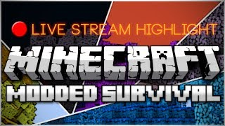 Minecraft: Modded Survival Live Stream Highlight_ Cheating Death