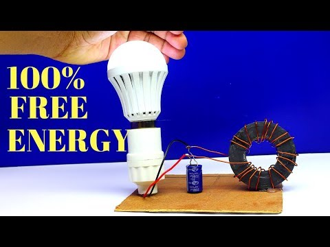 Free Energy Generator Without Battery - 100% Free Energy Light Bulbs Generator Using Magnets thumbnail