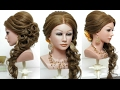 Bridal  hairstyle with curls for long hair tutorial thumbnail