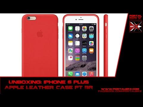 Unboxing: iPhone 6 Plus Apple Leather Case PT BR