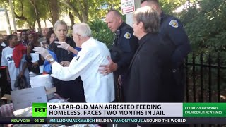 90 year old arrested for feeding US homeless faces 2 months jail