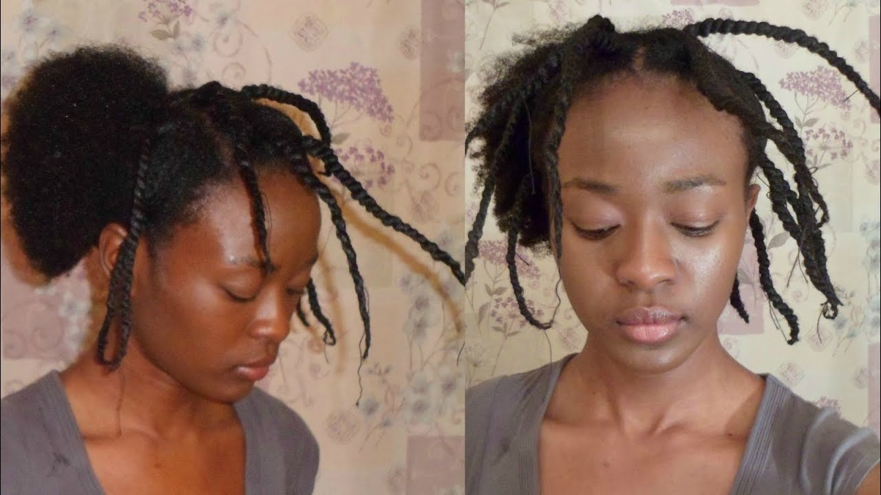 How To Stretch Natural Hair Using Thread No Heat YouTube