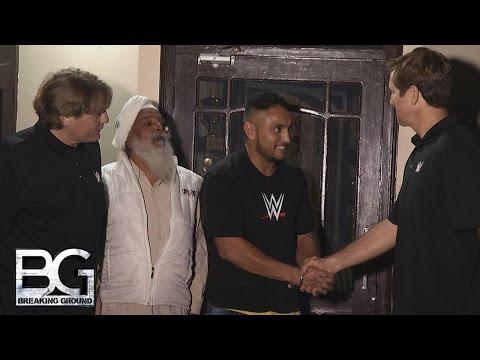 WWE Network: Lovepreet Singh joins the WWE Performance Center: WWE Breaking Ground, December 7, 2015