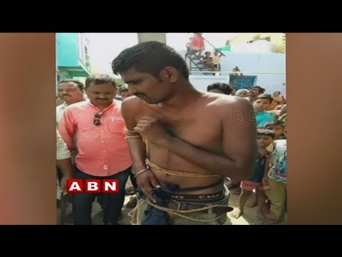 Villagers Thrashed Eve Teaser In Anantapur District, Tied To Current Pole  | ABN Telugu