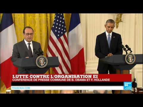 Lutte contre le groupe Etat Islamique : conférence commune de François Hollande et Barack Obama