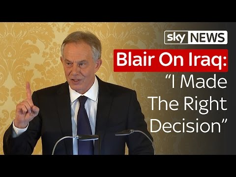 Tony Blair Responds To The Iraq Inquiry In Full