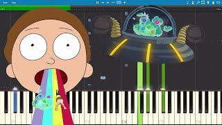 Goodbye Moonmen Rick And Morty Remix The Living Tombstone Piano Tutorial