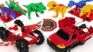 Take medals and transform! Dino Mecard Capture car Pteria, Militra and Giganoto! #DuDuPopTOY