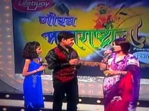 Manasi Joshi- Jiv Dangala ( E Tv Marathi, Gaurva Maharashtracha, 1 August 2012) video