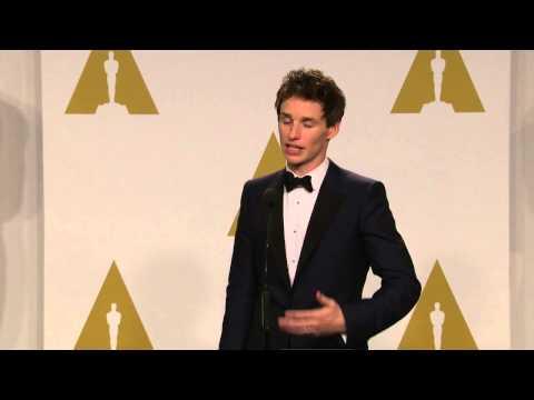 Oscars: Eddie Redmayne Backstage Interview 2015