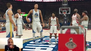 """7'7"""" 350LB STEPHEN CURRY IN THE 3-POINT CONTEST! 2K DOESN'T COUNT A GREEN RELEASE LAST SECOND SHOT!!"""