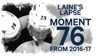 No. 76/100: Laine fires one into his own net