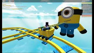 CART RIDE INTO MINIONS IN ROBLOX