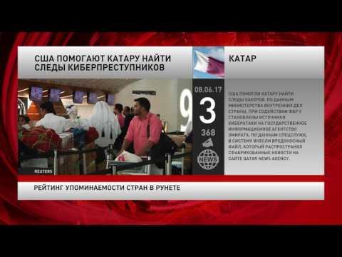 Рейтинг упоминаемости стран в русскоязычном интернете за 8 июня