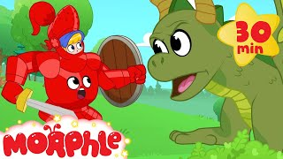 My Magic Knight Armor! Morphle the super Hero becomes a Knight to fight a bad dragon. (Kids Video)