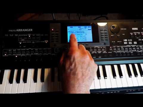 Korg MicroArranger developing backing tracks video 1