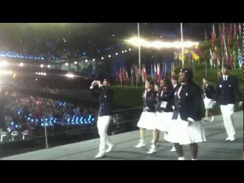 London 2012 Opening Ceremony: Team USA Entrance