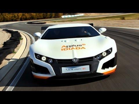 VOLAR-e 2013 1.000 hp -Fastest Electric Supercar -Spanish SuperCar- Top Gear 2013