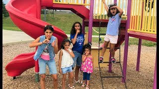 HIDE AND SEEK with HZHTube kids fun at the playground! family fun vlog
