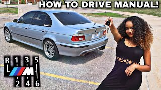 Teaching My Girlfriend How To Drive A STICK SHIFT In The M5!