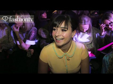 Pixie Geldof Front Row at Moschino Cheap & Chic Fall/Winter 2013-14 | London Fashion Week |FashionTV