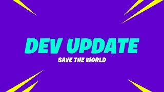 Save the World Dev Update #10 - Future of Fortnite and Community Questions