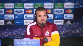 Press conference- Wesley Sneijder (Galatasaray)
