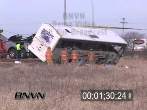 4/5/2008 Tour Bus Crash Aftermath News Footage