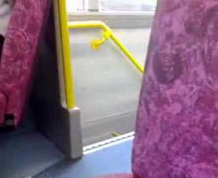 boy sings aloud in BUS
