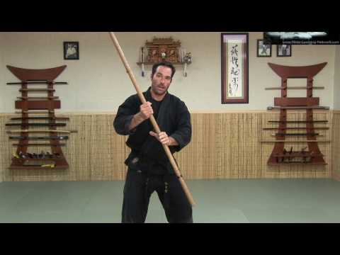 0 Rokushaku Bo Introduction   Part 2 backspin   Ninja Training Video Blog