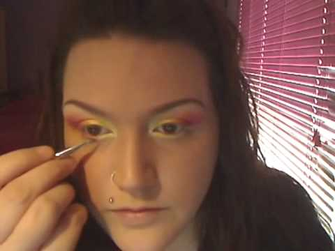 YELLOW + PINK MAKEUP TUTORIAL REQUESTED BY MBJACK1