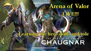 Live! [Chaugnar] Arena of Valor - Learning to use hero roles and skills.