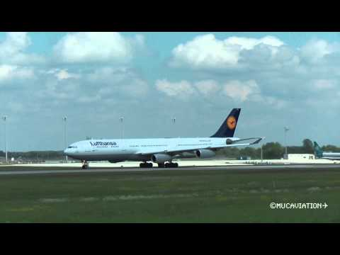 Lufthansa Airbus A340-300 Long Takeoff Roll [FULL HD]