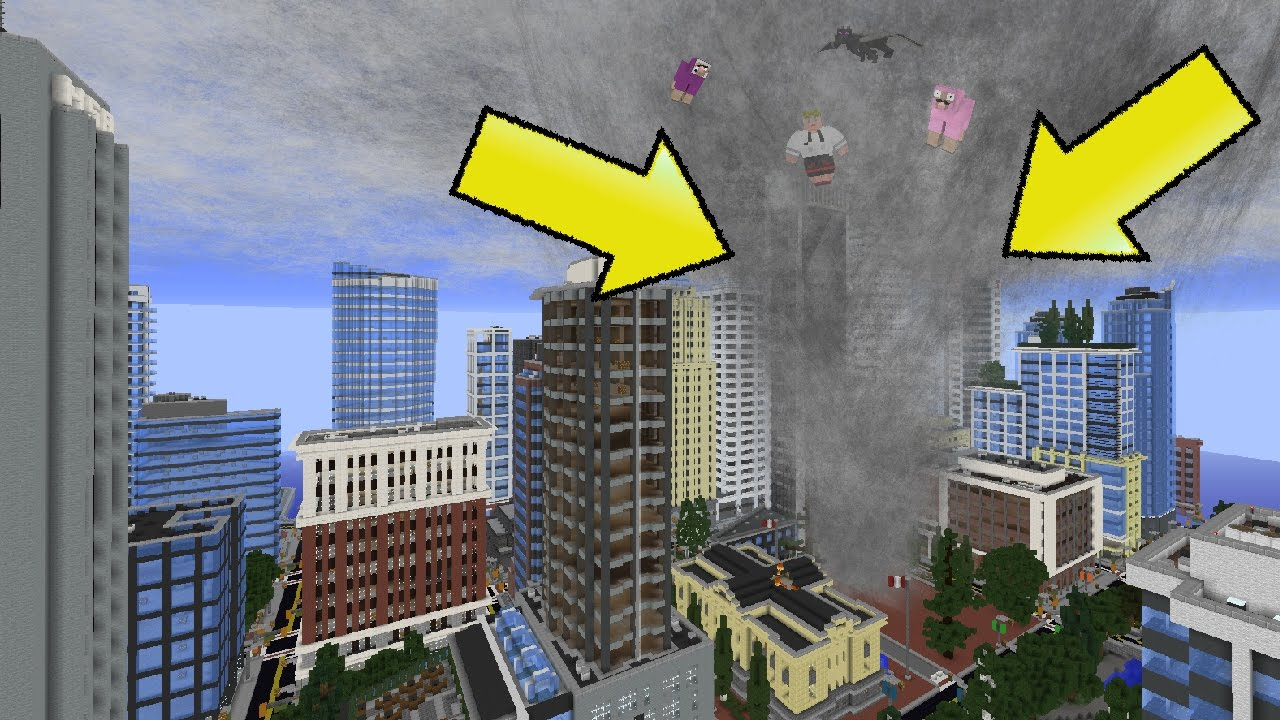 Tornado Vs Giant City Map Minecraft Youtube