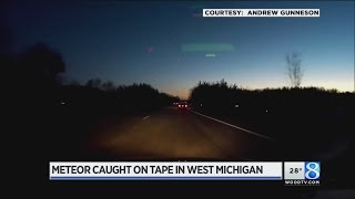 Meteor falls through West Michigan Sky