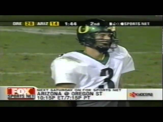 Oregon WR Keenan Howry 20 yard catch vs. Arizona 10-06-2001