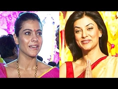 Kajol, Sushmita Sen Celebrates Durga Puja video
