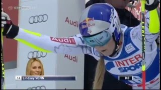 Lindsey Vonn 1st Run Giant Slalom ARE 2015
