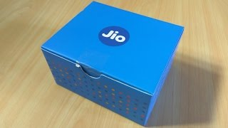 JioFi 2 Portable 4G Wireless Hotspot Device Unboxing