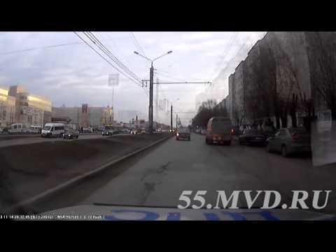 Погоня сотрудников ГИБДД за пьяным водителем