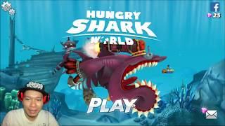 trò chơi cá mập ăn cá nhỏ cá lớn nuốt cá bé HNT chơi game #5 hungry shark evolution game new 168