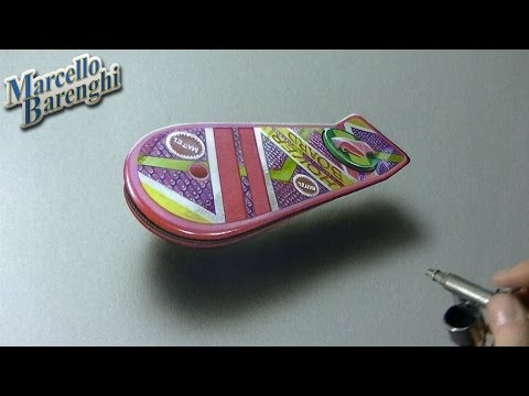Drawing Time Lapse: Marty McFly's Hoverboard - Back to The Future