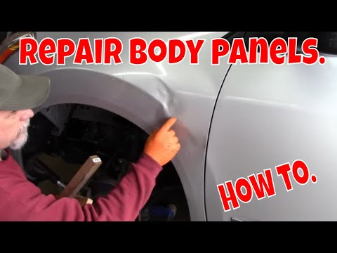 Repairing body panels. Techniques and tips. Body filler. and block sanding.
