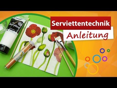 ♥ Serviettentechnik Anleitung ♥ Bastelanleitung - Trendmarkt24