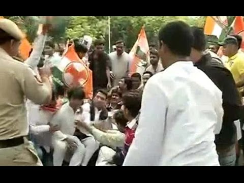 Youth Congress Protest Against Land Acquisition Bill