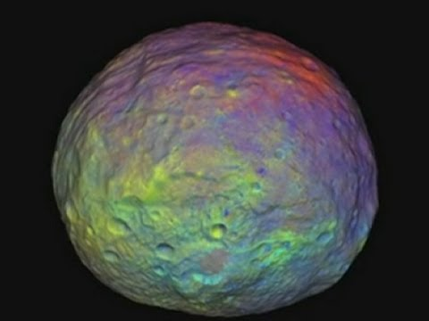 Technicolour asteroid: Nasa release Vesta in colour video