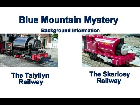 Blue Mountain Mystery Background Kids Thomas The Train Toy Train Set Thomas The Tank Engine