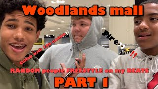 Asking RANDOM People to Freestyle on My BEATS At the Woodlands MALL!!! Ft. 10K Nation (Part1)